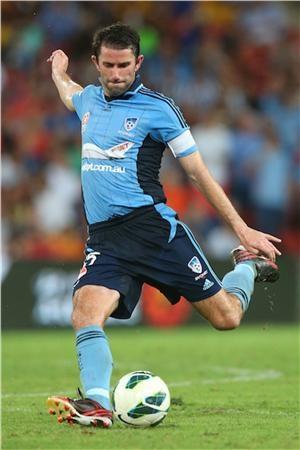 Terry McFlynn on the ball once again as Sydney FC's captain