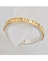 Be Positive in the present silver ring