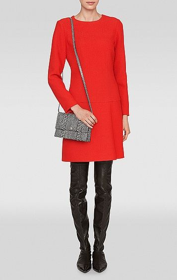 Slightly bolder option is Dianne by L.K.Bennett ($550) - one of the favorites of Duchess of Cambridge (aka Kate Middleton). Classic styling looks elegant while the red color makes it interesting.