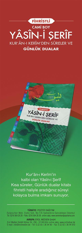 Fihristli Yasini Şerif (Cami Boy)  → http://www.semerkandpazarlama.com/Fihristli-Yasini-Serif-Cami-Boy,PR-2236.html