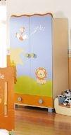 Armario infantil de la serie Zoo de la marca Micuna. Colores: Pistacho, celeste y naranja. Por 330 puntos Creciclando.