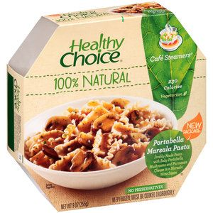 Healthy Choice Cafe Steamers Portabella Marsala Pasta, 9 oz 100% natural 230 calories No preservatives Fresh taste and texture unlocked by unique dual steaming tray Free of artificial flavors, colors and preservatives
