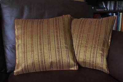"New 2 Vessila & Brako Gold red designer cushion covers 16x16"" RRP £17 each"