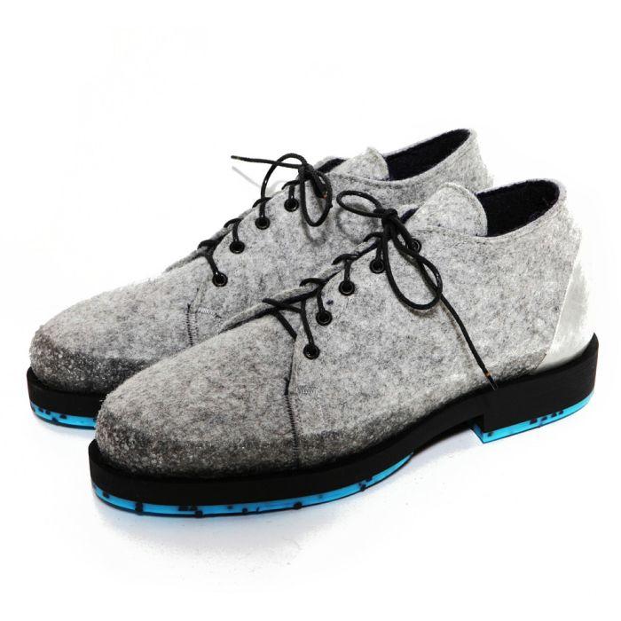 Утепленные ботинки из войлока от Woolings.