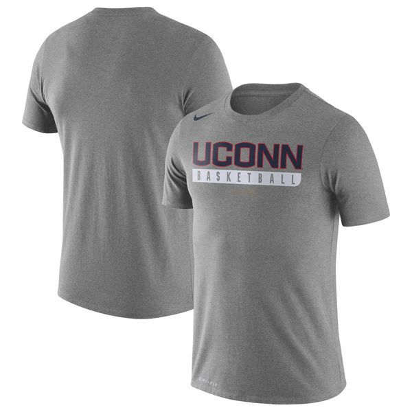 UConn Huskies Nike Basketball Practice Performance T-Shirt - Charcoal - $27.99