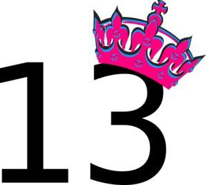 Pink Tilted Tiara And Number 13 clip art - vector clip art online ...