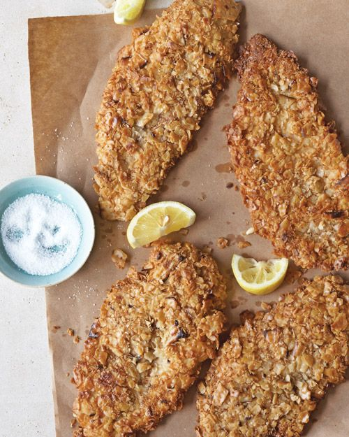 Get creative with your stockpile of matzo! Matzo-Crusted Chicken Cutlets.