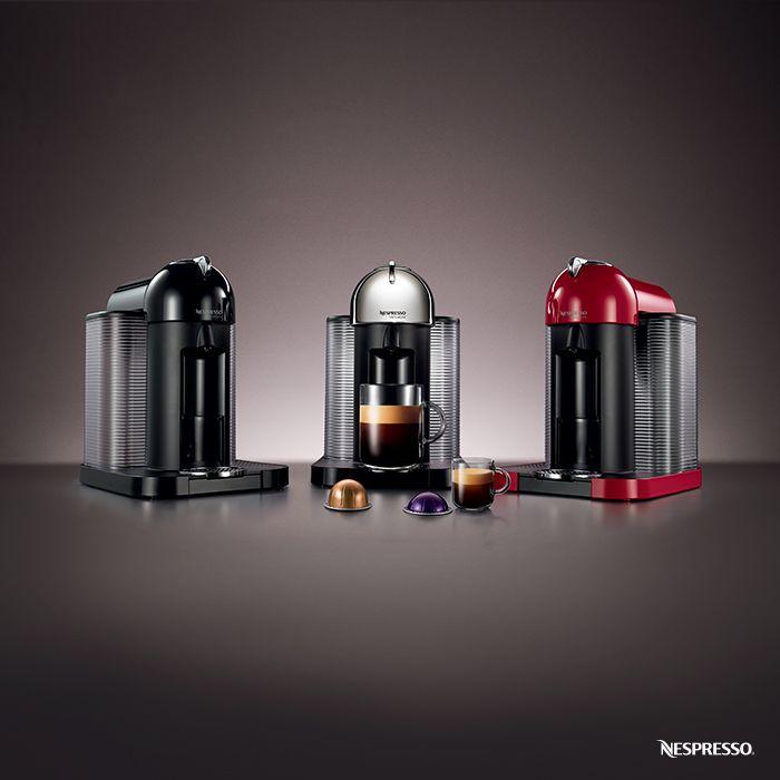 Three elegant shades. Two crema-topped options. One VertuoLine: http://www.nespresso-us.com/machines/vertuo/. #Coffee #Espresso #TheCoffeeRevolution