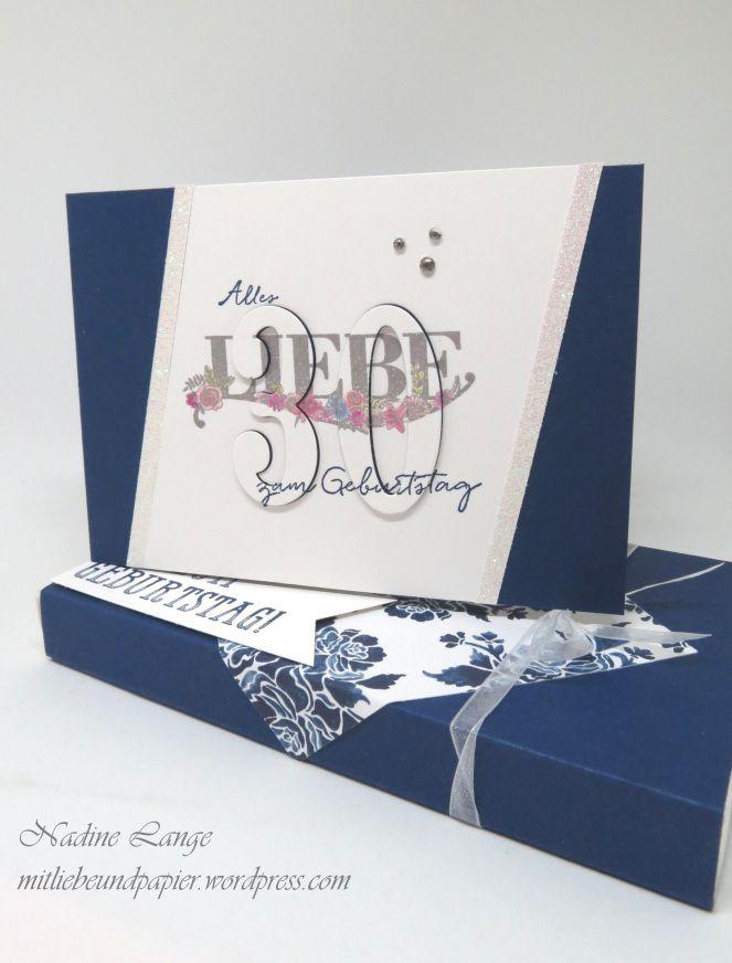 Karte Zum 30 Geburtstag Stampin Up Beste Wunsche Karten
