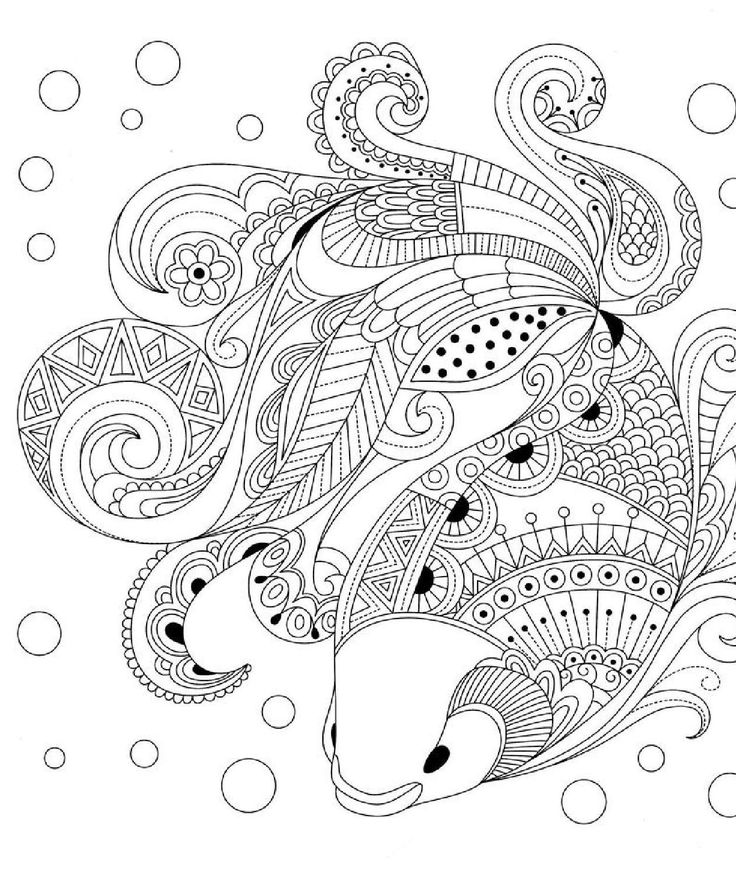 картинки раскраски антистрессовые ханка