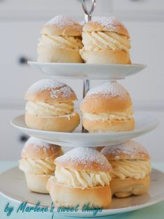 Marlene's sweet things: Ofenberliner mit Vanillecreme
