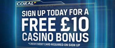 Coral Extra Money For You! Sports, Casino, Games Bingo, Poker Or Lotto Right now at Coral if you Make your first deposit using paypal you will receive an additional £5 extra free this is on top of your huge welcome bonus offer! Register Here Today Extra Casino Bonus Is £10 No Deposit Required http://www.initto-winit.com/casino/coral-casino/