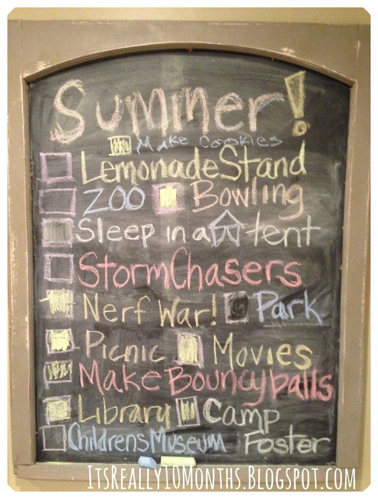 Summer Fun list for the kids!