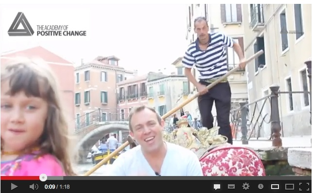 A brief and beautiful video taken on a Gondola in Venice.. A great reminder to do the things that you want and love to do NOW!