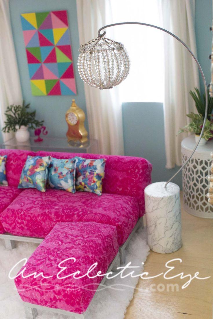 1:6 scale Barbie livingroom