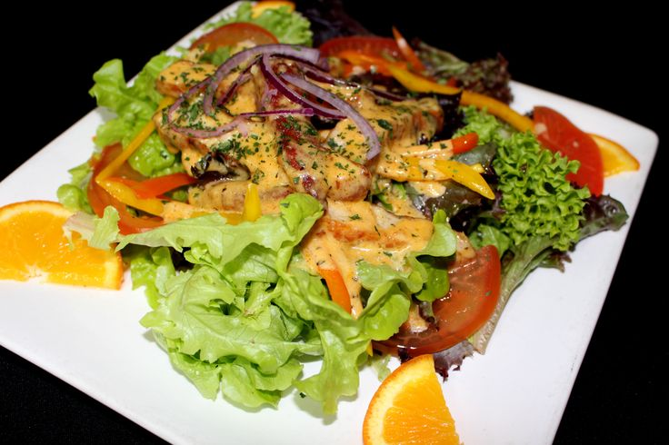 Tomi's Salad of the Day - This is a warm Cajun Chicken Salad