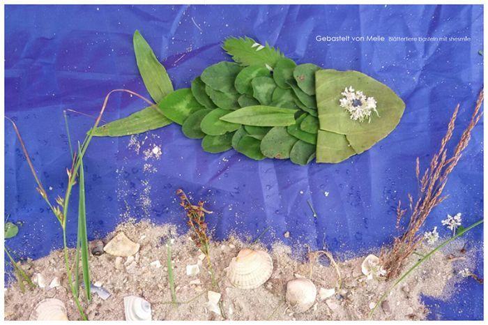 Blättertiere basteln mit Kindern. Lass dich inspirieren von den wunderschönen…