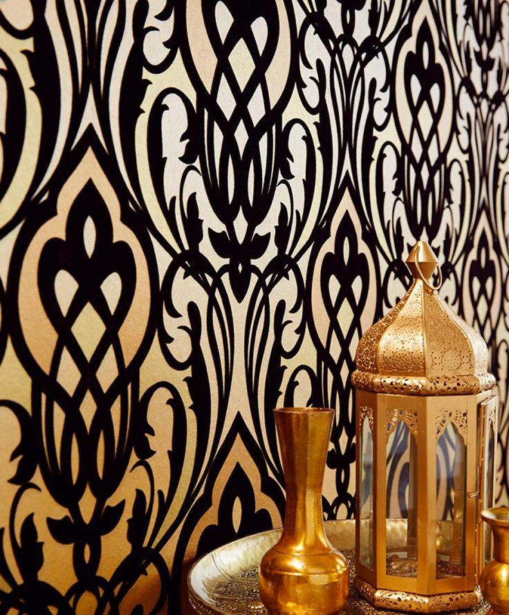 les 25 meilleures id es de la cat gorie papier peint baroque sur pinterest papier peint gris. Black Bedroom Furniture Sets. Home Design Ideas