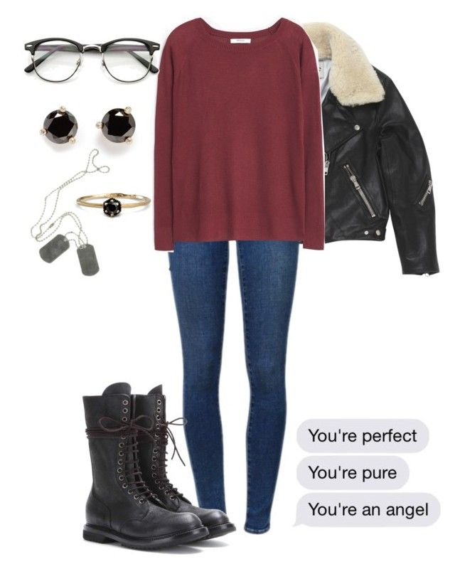 """""""You're an angel"""" by dreams-of-a-samurai ❤ liked on Polyvore featuring Acne Studios, Frame, Kate Spade, MANGO, Rick Owens and Satomi Kawakita"""