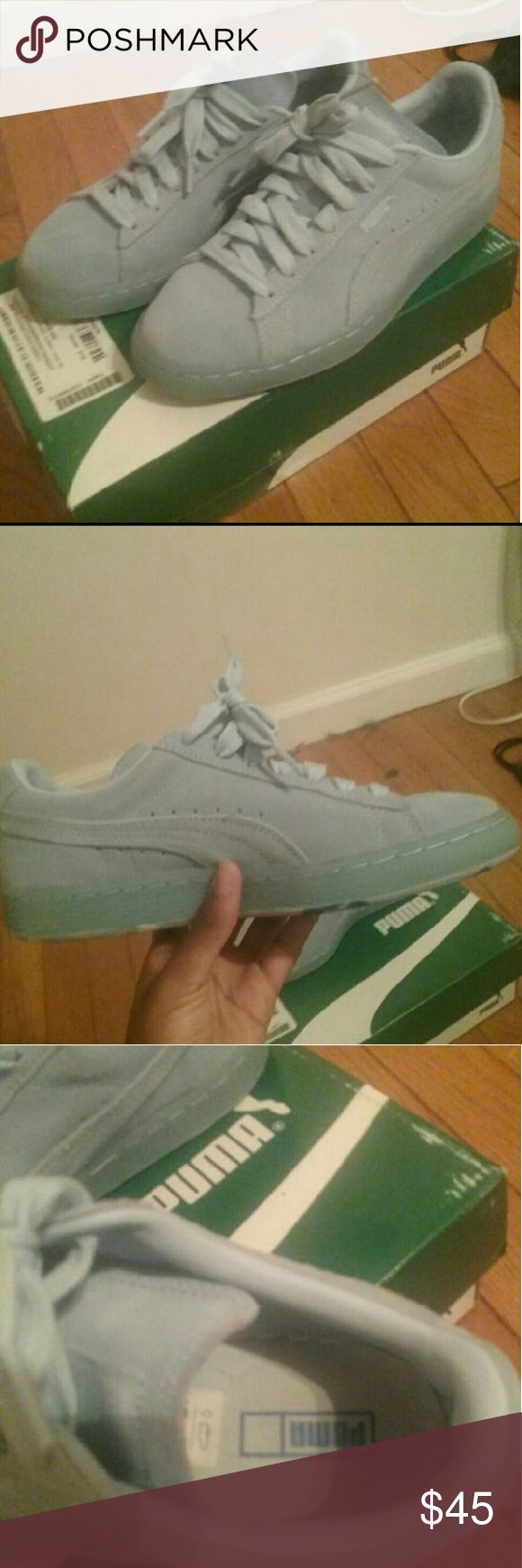 Light blue suede puma's In great condition only worn a few times Puma Shoes Sneakers