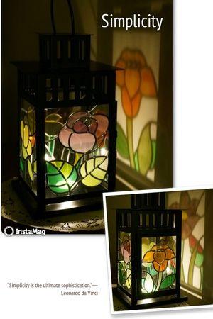 日本玻璃拼貼~提燈~