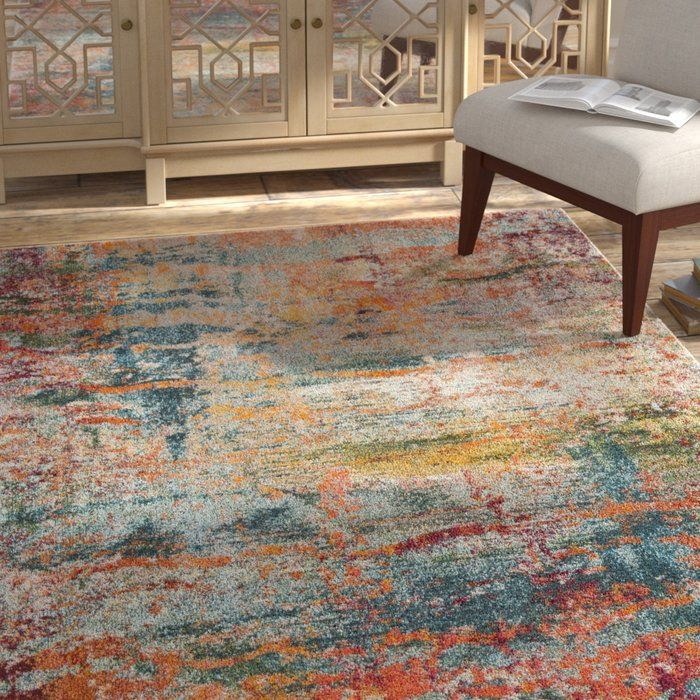 Arianna Teal Orange Area Rug Mom Rug In 2019 Orange