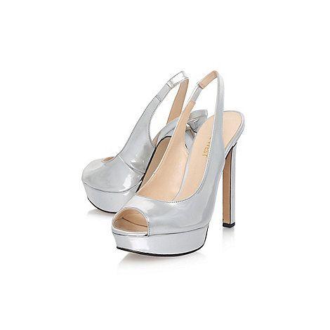 Nine West Silver Valorie3 High Heel Sandals
