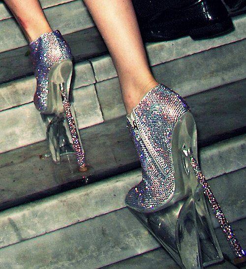 crazy shoes! Super high stilettos!