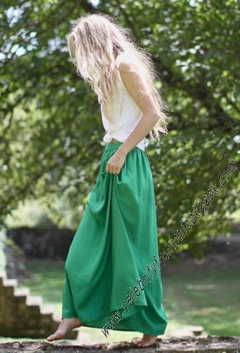 Green Flowy Maxi Skirt - Skirts - Bottoms - Clothing US$27.74 Free worldwide shipping  #skirt #maxiskirt #style # love