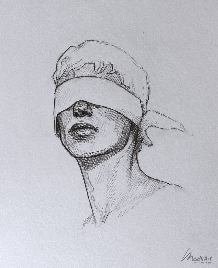 My Sketchbook Art I Dreamy Blindfolded Drawing Guy…