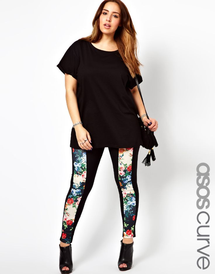 Put on a pair of white plus size capri leggings when staying in with friends, or go for a fierce look with a pair of black leather leggings on an exciting date. Add a cute top to a pair of printed plus size leggings for fun, vibrant style.