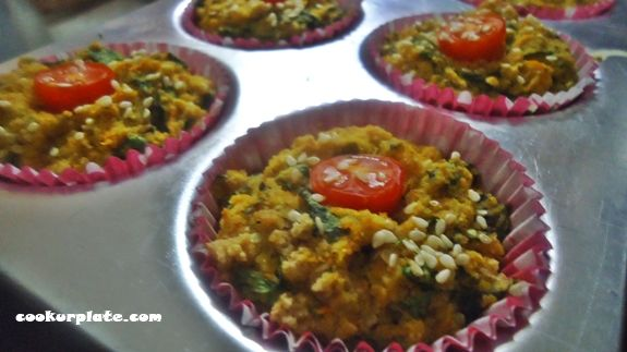 Complete breakfast on-the-go or a snack. So easy & delicious, Spinach and Oats Breakfast Muffins. These muffins are very popular in my house. kids do not complain about eating oats and spinach, and we have an easy grab and go snack.