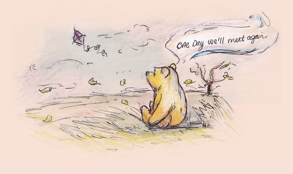 Dedicated to my Mom, who loved a silly old bear... Colored pencils, pen and copic markers. Want a print?