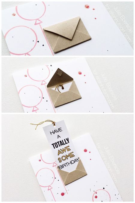 Totally Awesome Card + YOU TUBE video by @JulieEbersole. #EllenHutsonLLC #EssentialsbyEllen