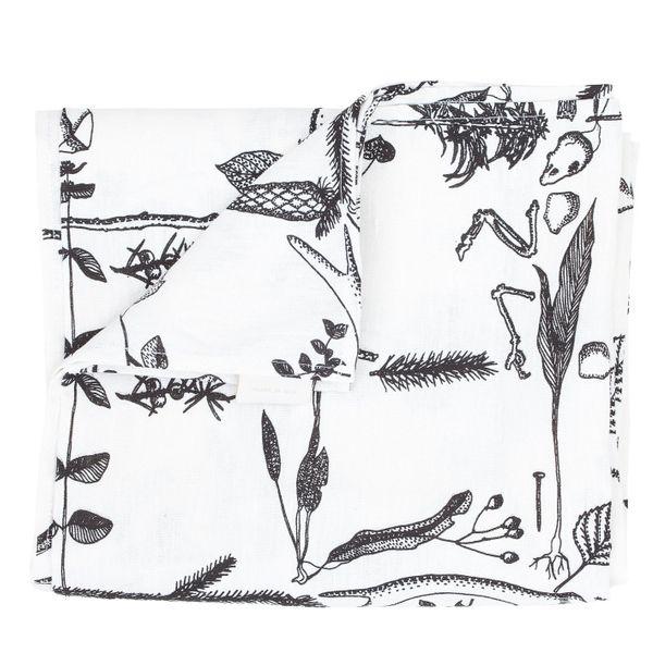 Myrskyn jälkeen table cloth, white, by Saana ja Olli.