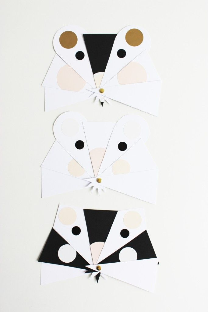 Mouse faces kids craft