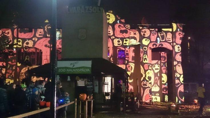 Hol nem volt park #Halloween Night Projection #fényfestés
