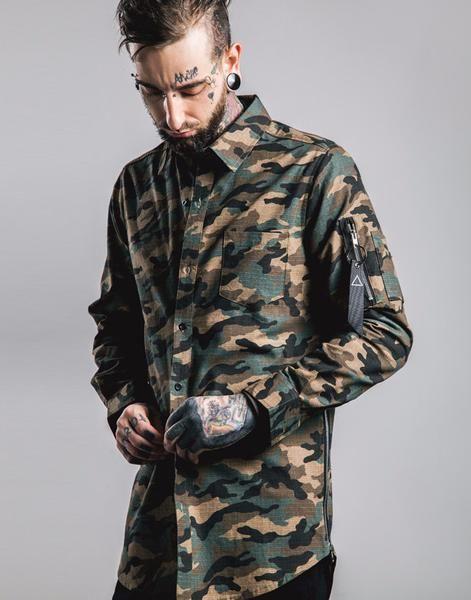 Sovereign®  Long Sleeve Camo Shirt