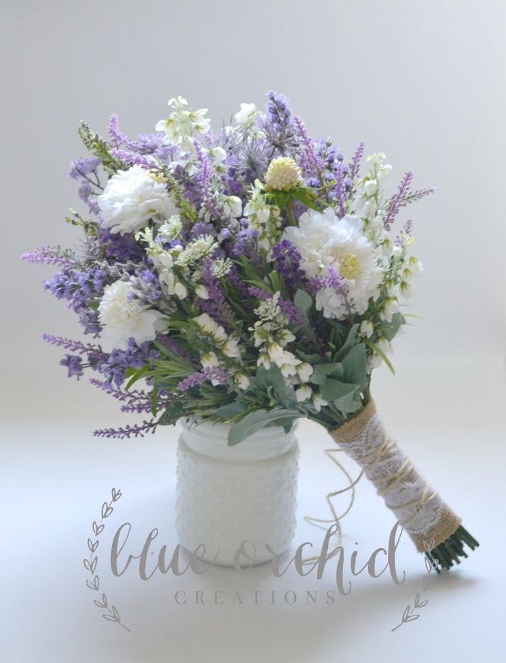 Cotton And Lavender Floral Arrangement Etsy Flower Arrangements Diy Flower Arrangements Dry Floral Foam