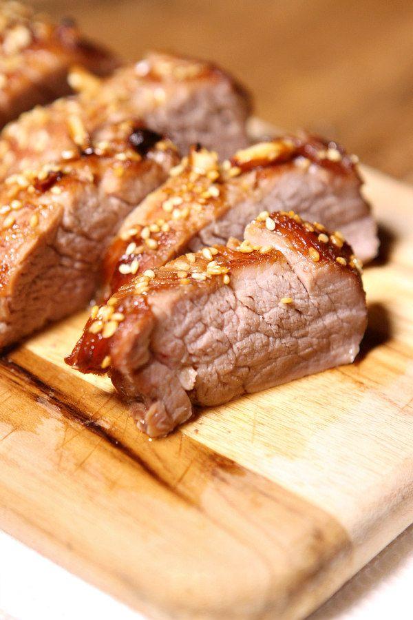 Honey Sesame Pork Tenderloin Recipe - RecipeGirl.com