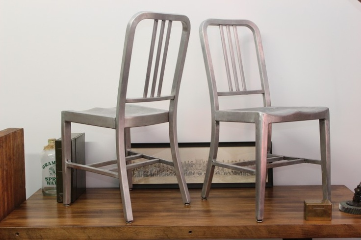 Pair of Good Form Navy chairs ca. 1939Aluminum Navy, Chairs 1940S, 1006 Chairs, Chairs 1939, Navy Chairs, Navy 1006, Emeco Navy, Dorsetfind Blog, Form Navy
