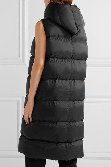 Rick Owens - Quilted Shell Down Vest - Black - IT40