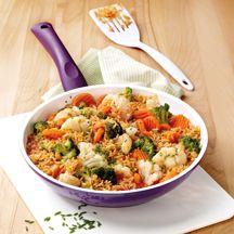 Schnelle Reis-Gemüse-Pfanne