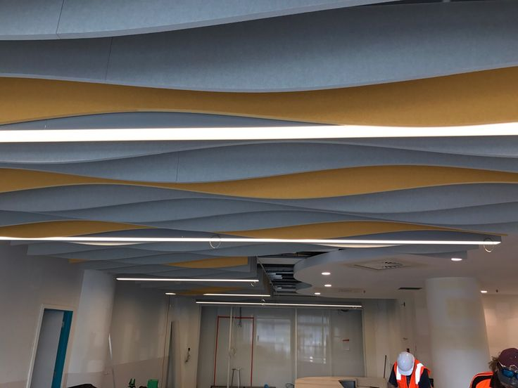 Autex Interior Acoustics - Quietspace® Frontier™ - Modular Acoustic Ceiling System - Starship Children's Hospital, Auckland, NZ - Colours: Senado and Flatiron