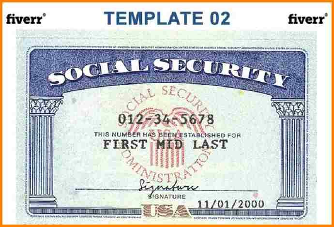 7 blank social security card template download
