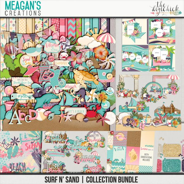 Surf N' Sand Collection Bundle by Meagan's Creations