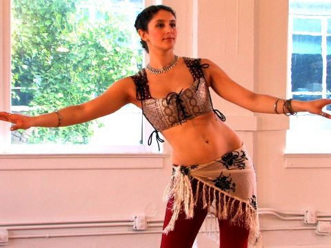 Belly Dance Shimmy Workshop Pilates & Dance Video with Gillian Cofsky