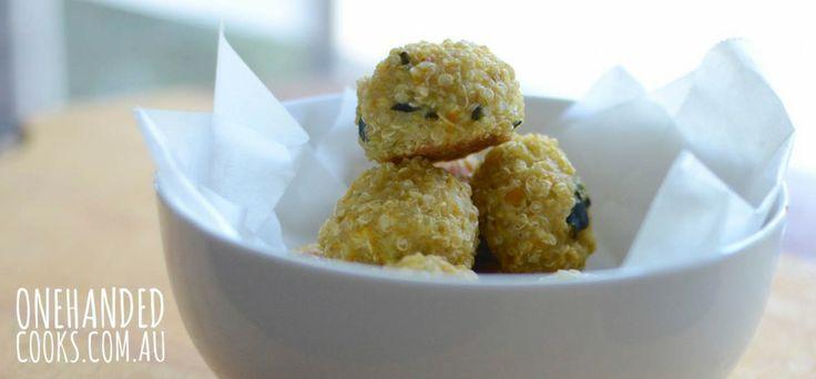 Crispy Baked Veggie Quinoa Balls - One Handed Cooks