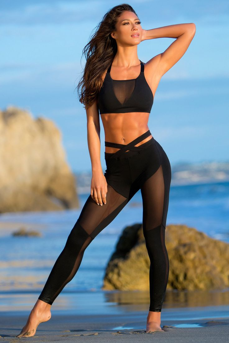 Exotic Leggings - Black  Workout Clothes  Fitness -3728