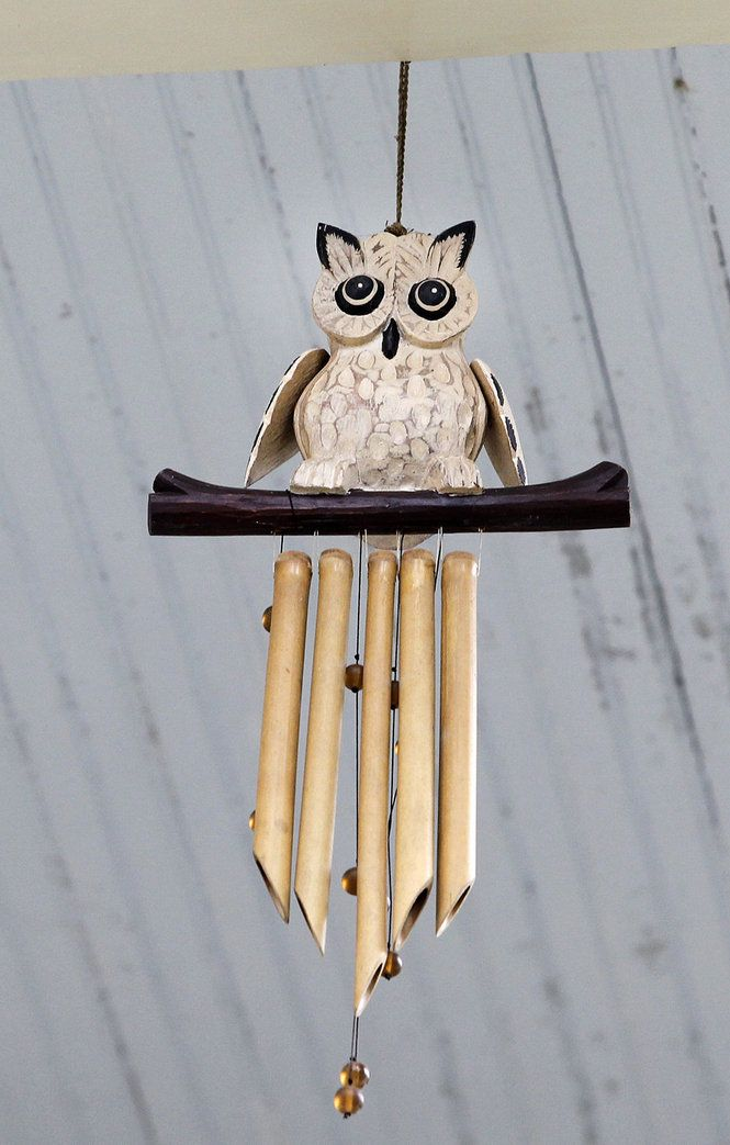 Owl wind chimes